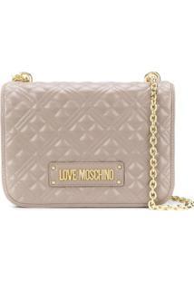 Love Moschino Bolsa Tiracolo Matelassê - Cinza