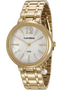 Relógio Feminino Mondaine 76703Lpmvde1 Pulseira Aço - Feminino-Dourado