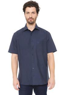 Camisa Dudalina Reta Lisa Azul-Marinho