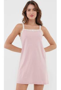 Camisola Hering Curta Boton㪠Rosa - Rosa - Feminino - Algodã£O - Dafiti