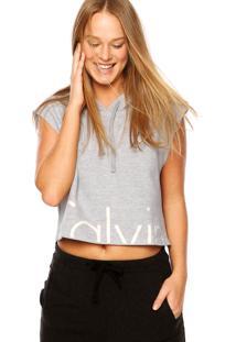Regata Calvin Klein Jeans Capuz Cinza