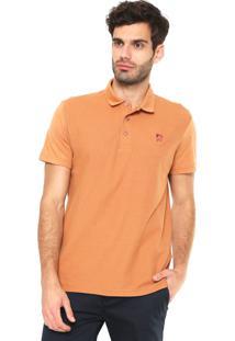 Camisa Polo Mr Kitsch Textura Laranja