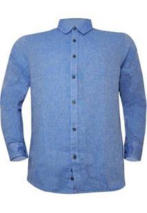 Camisa Alma De Praia Masculina - Masculino-Azul