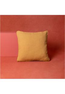Capa De Almofada Lisa Doha Cor: Amarelo - Tamanho: Único