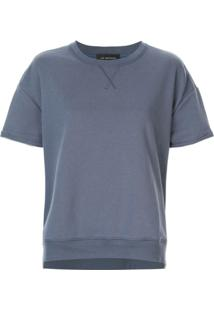 Lee Mathews Blusa De Moletom Ampla - Azul