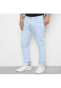 Calça Jeans Quiksilver Artor Delave Masculina - Masculino-Azul Claro