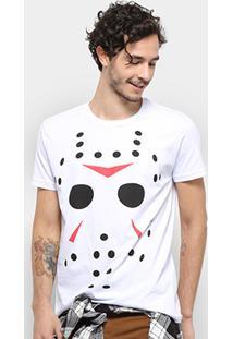 Camiseta Bulldog Fish Jason Masculina - Masculino-Branco
