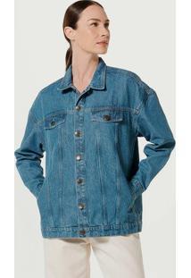 Jaqueta Jeans Feminina Oversized