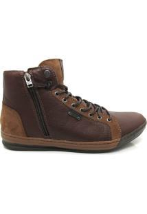 Sapato Casual Masculino Freeway Road Couro Cano Longo - Masculino