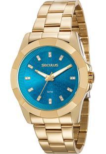 Relógio Analógico Seculus Feminino - 20561Lpsvds1 Dourado