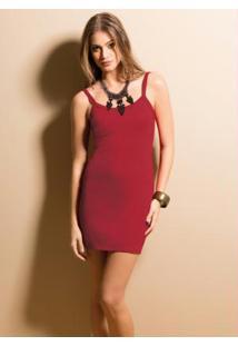 Mini Vestido De Alça Vermelho