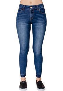 d8dd85e05 ... Calça Jeans Skinny Fátima Barra Desfeita Colcci