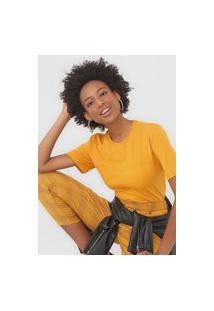 Camiseta Colcci Recortes Amarela
