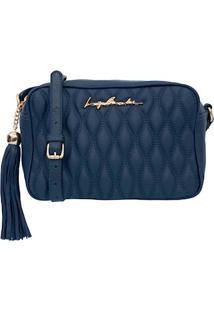 Bolsa Pequena Em Couro Azul