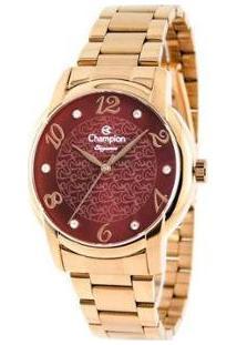 Relógio Feminino Champion Analógico Elegance - Cn26224I - Feminino-Dourado