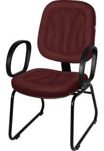 Cadeira Interlocutor Base Trapézio C/ Br