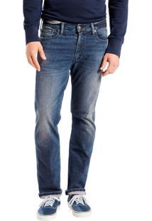 Calça Jeans Levis 513 Slim Straight Azul Escura Azul