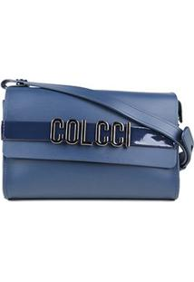 Bolsa Colcci Mini Bag Firenze Relevo Feminina - Feminino-Azul