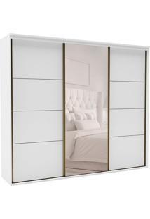 Guarda-Roupa Casal Com Espelho Eleganza Ll 3 Pt 6 Gv Branco