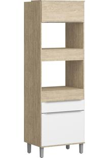 Paneleiro Torre Quente Decibal Slim Cs604P Acácia/Nature/Branco
