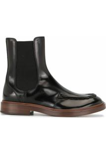 Tod'S Ankle Boot Spiga - Preto