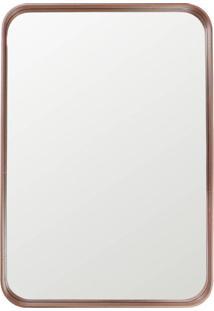 Espelho Manaus Retangular Prata Borda Cobre 80Cm - 60288 - Sun House