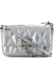 Givenchy Bolsa Tiracolo Matelass㪠Com Pingente - Prateado