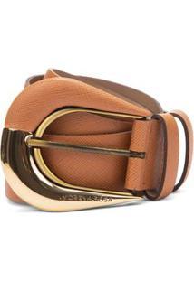 Cinto Cintura Quadril Regular Fivela Encapada Marrom