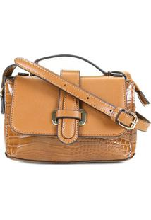 Bolsa Chenson Shopper Croco Clássico De Mão Feminina - Feminino-Caramelo