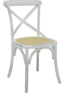 Cadeira De Madeira Katrina -Rivatti - Branco