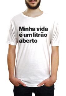 Camiseta Hunter Litrão Branca
