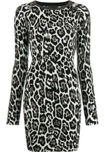 Just Cavalli Leopard Print Dress - Branco