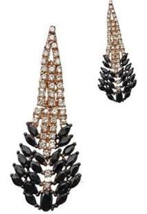 Brinco Le Diamond Escamas Dourado - Feminino-Rosê