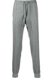 Z Zegna Drawstring Waist Tapered Trousers - Cinza