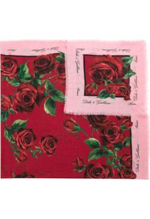 Dolce & Gabbana Lenço Cashmere Estampado - Vermelho
