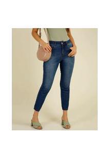 Calça Mom Jeans Feminina Bolsos Biotipo