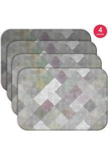 Jogo Americano Love Decor Wevans Abstract Kit Com 4 Pçs