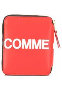 Comme Des Garçons Wallet Carteira Com Logo E Zíper - Vermelho