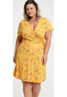 Vestido Feminino Estampa Floral Plus Size Marisa