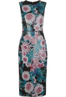 Dvf Diane Von Furstenberg Vestido Sem Mangas Com Estampa Floral - Preto