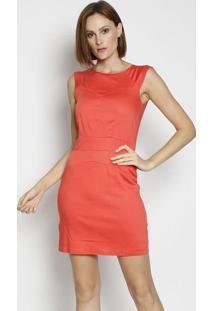 Vestido Com Pregas - Coral- Moiselemoisele
