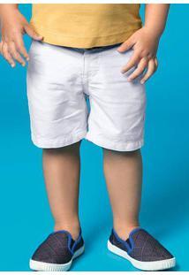 Bermuda Bebê Menino Em Tecido De Algodão Com Cinto Hering Kids