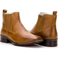 Bota Texana Country Capelli Boots Em Couro Cano Curto Masculina - Masculino-Marrom  Claro 671ce59a83b