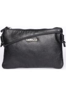 Bolsa Transversal Com Tag - Preta- 14X22X1Cm -Griffazzi