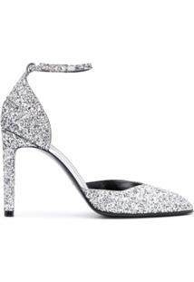 Givenchy Sapato Com Efeito De Brilho E Salto 10Mm - Prateado