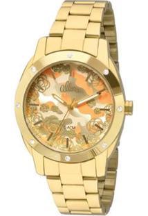 Relógio Allora Feminino Camoflower Al2036Ffr/4L - Al2036Ffr/4L - Feminino-Dourado