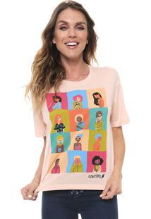 Camiseta Cantão Mulher Rosa