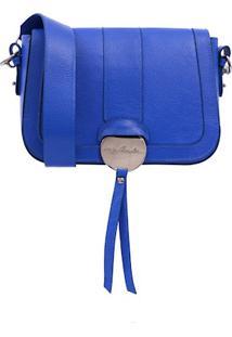 Bolsa Couro Azul Western