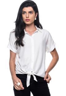 Camisa Intens Manga Curta Viscose Branca