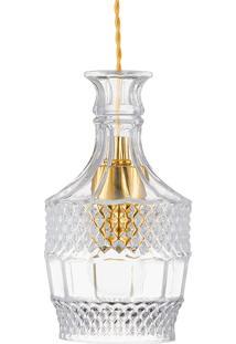 Pendente Em Vidro Transparente Lapidado 13 Cm 5695 - Mart - Incolor